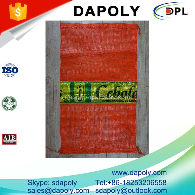 shandong qingdao good factory vegetable onion potato fruite packaging mesh lingerie bag