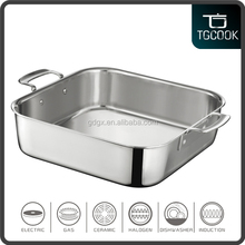 Bakeware Trip-ply Stainless Steel BBQ Pan, Commercial Grill Pan, Roasting Pan