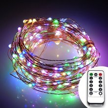 Battery Operated 10 Meter 100 LED Copper Wire Lights Outdoor Micro LED Starry String Light With Timer and Remote