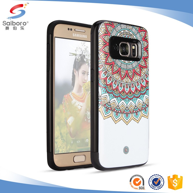 Attractive appearance TPU+PC Multicolor Printed case for samsung galaxy s8 protective case