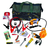 63pcs Car Roadside Emergency Tool Kit with jumper cables