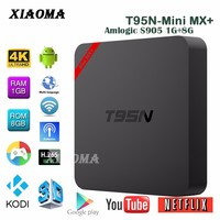T95N Mini MX+ s905 1G 8G decoder box cable tv tuner box for lcd monitor