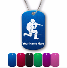 Soldiers Personalised Necklaces Zinc Alloy Custom Military Dog Tags With Nickel Plating