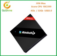 H96 Max 4GB+32GB Rockchip RK3399 Six Core Android TV Box USB3.0 Type-c with i86 7 colors Backlit Wireless Keyboard