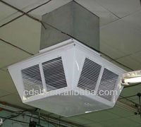 environmental evaporative cooler air ducting grill