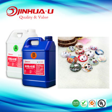Water Clear Doming Adhesive Epoxy Resin Glue For 3D Doming On Stickers