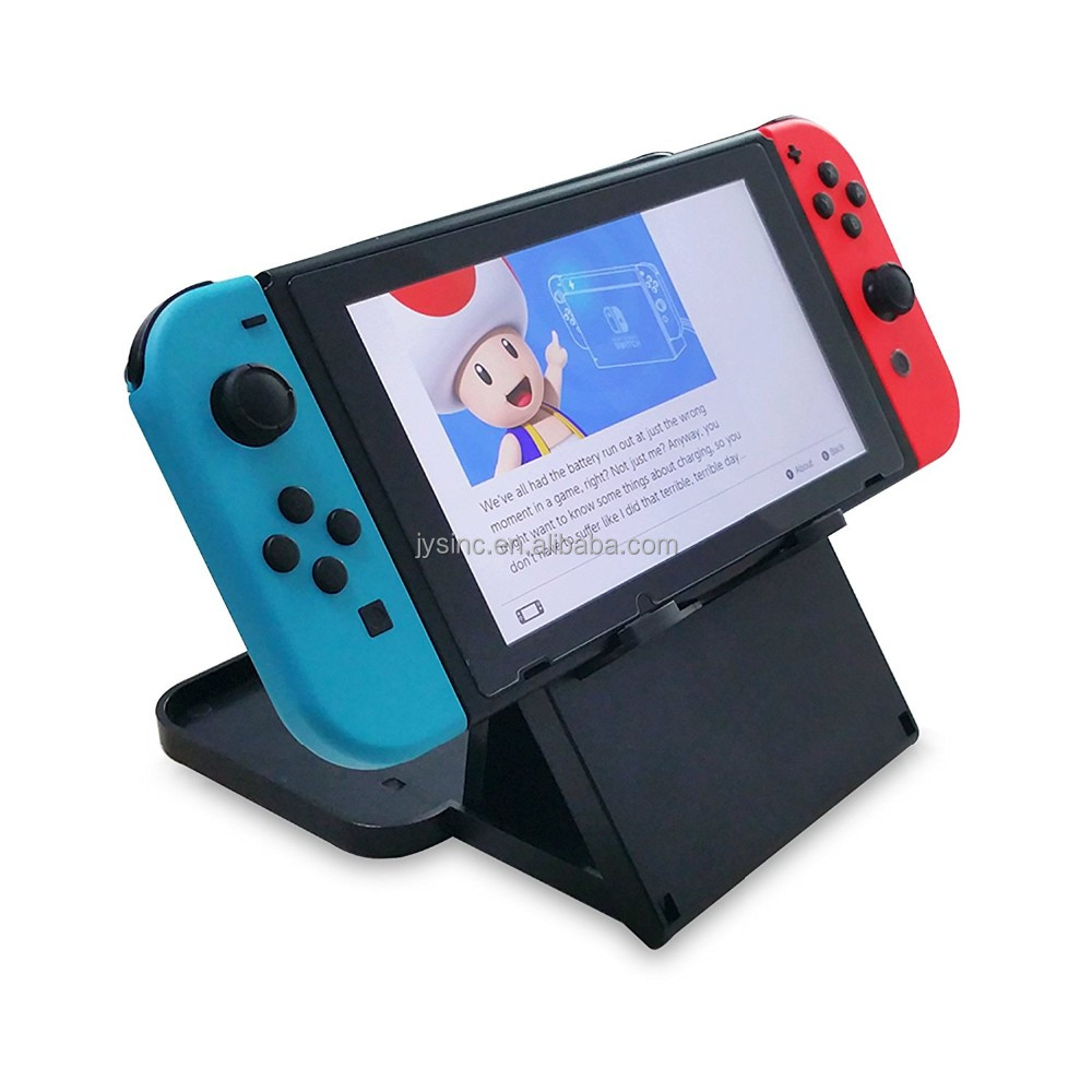 Multi-Angle Plastic Holder PlayStand for Nintendo Switch (Black)