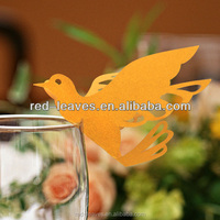 Peace dove name place card for seat