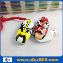 Custom Chinese mask usb flash drive, plastic mask usb pen drive,mask usb stick 1gb 4gb 8gb 16gb