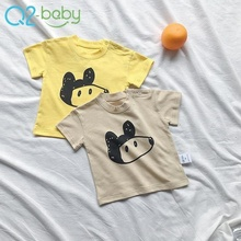 New design cotton baby boys clothes t-shirt with label custom 1950