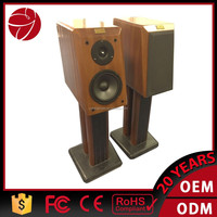 Professional 6.5 inch wood passive speaker system with tube amplifier input Jack