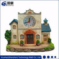 Authentic antique resin house shape table clock for sale