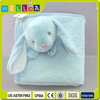 Soft touch animal shape plush baby blanket