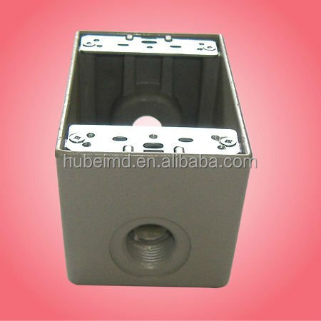 "hinged-cover junction boxes for outdoor wet location with die cast aluminum 4-9/16"" H X 2-13/16"" W"