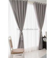 elegant modern style custom solid colors blackout home living room window curtains panel drapes