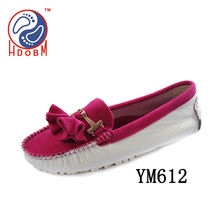women shoes mix color cost leather flat shoes