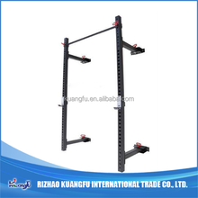 Gym fold wall mounted crossfit rig