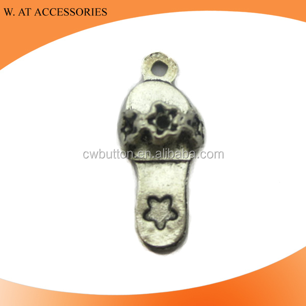 Shoes alloy enamelled charm souveniors pendants for necklace
