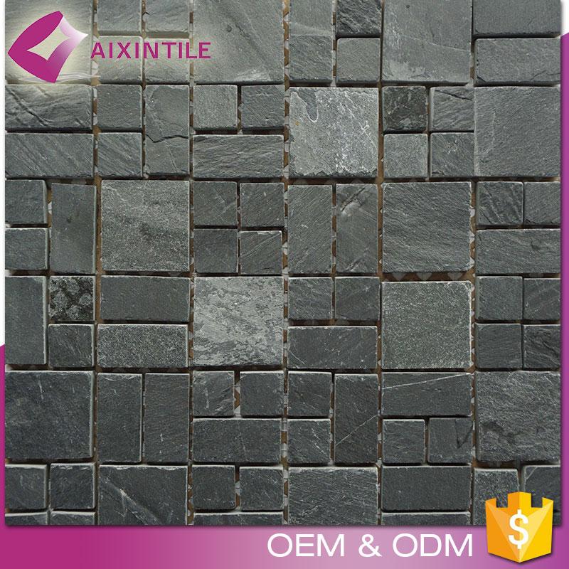 grey mosaic tiles photo