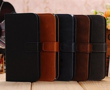 For Samsung Galaxy S4 Crazy Horse Leather Case
