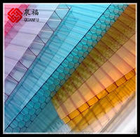 U-locked pc sheet 4-30mm colored sun sheet for garage roofing
