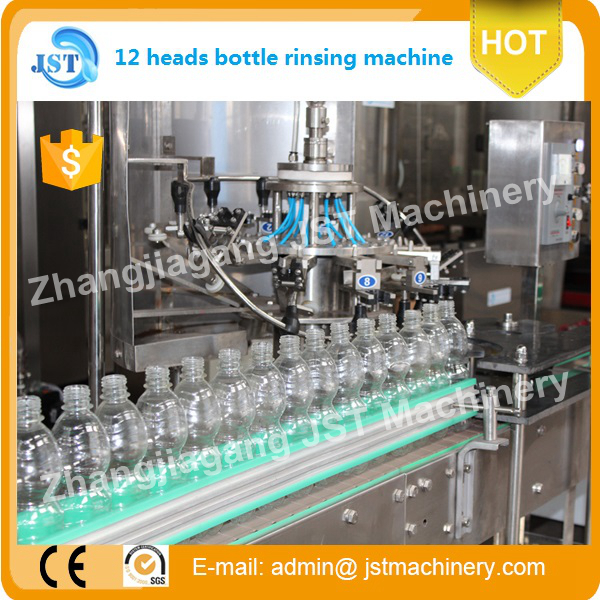 mini mineral water plant washing filling capping linear line