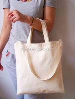 2015 cheap fashion leather patch canvas tote bag