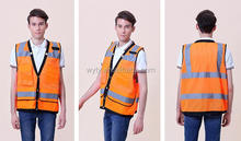 high visibility safety mesh vest with pocket