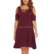 Large Size Women Long Dress Big Size Lady Clothes Factory Price Dress