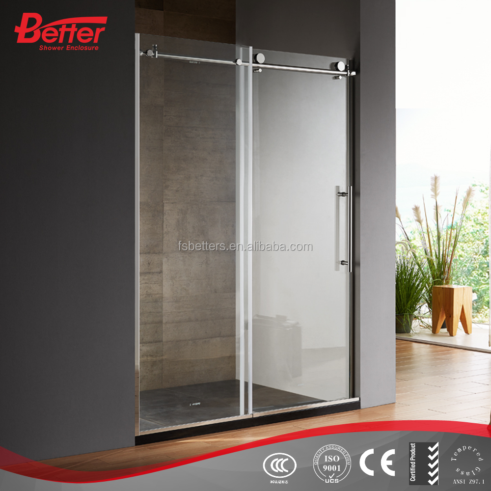 Sliding high quality bubble glass shower door with en12150-1