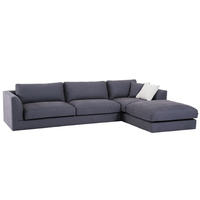 Down Feather Italian Fabric Sofa Set