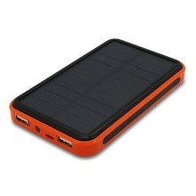 2015 New Waterproof solar power bank dual usb external battery solar charger powerbank 30000mAh