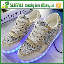 china brand fashion led flashing shoe light light up dance shoes for party