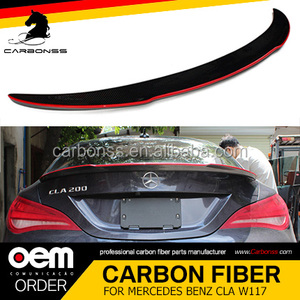 Carbon Fiber Rear Trunk Wing Spoiler Fit For Mercedes Benz CLA Class W117 C117 FD Type 2013+