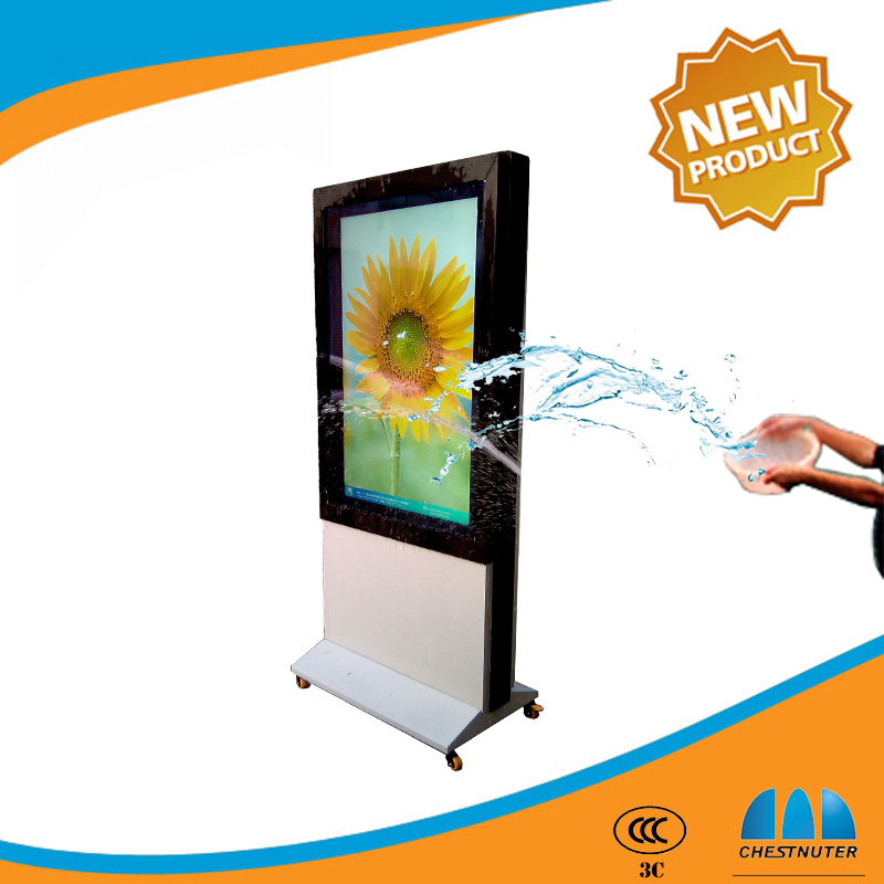 50 inch anti-theft lcd/LED display stand tv windows os Advertising players ,outdoor advertising lcd display