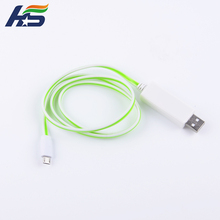 OEM cell phone accesories cable for samsung data cable with light led charging cable for iphone 5