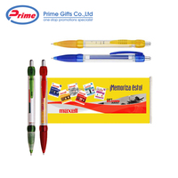 Hot Sale Advertising Pen Retractable Pull Out Plastic Banner Pen