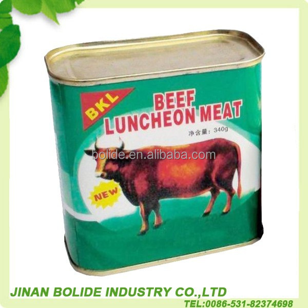 High quality canned beef luncheon meat