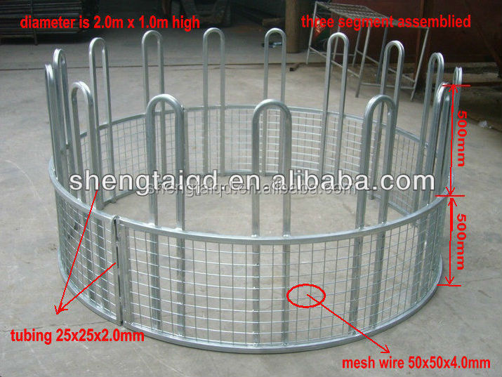 Livestock round bale cattle and sheep feeder (factory)