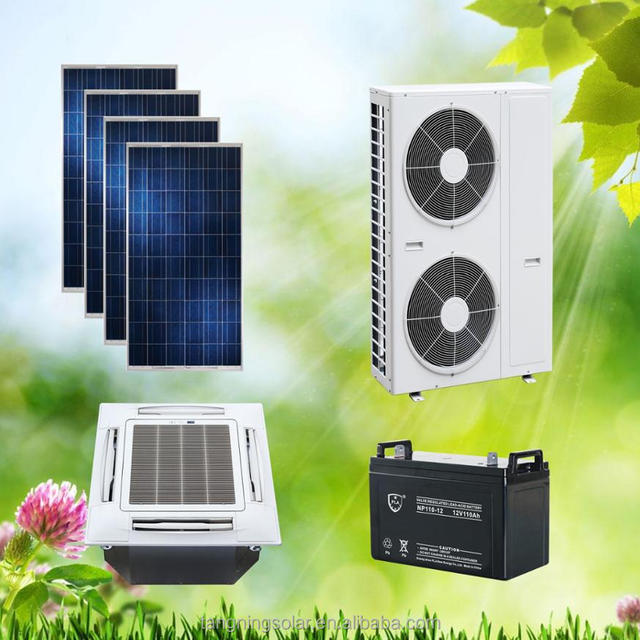Factory price best selling ACDC on grid solar power system air conditioner 12000BTU Cassette type