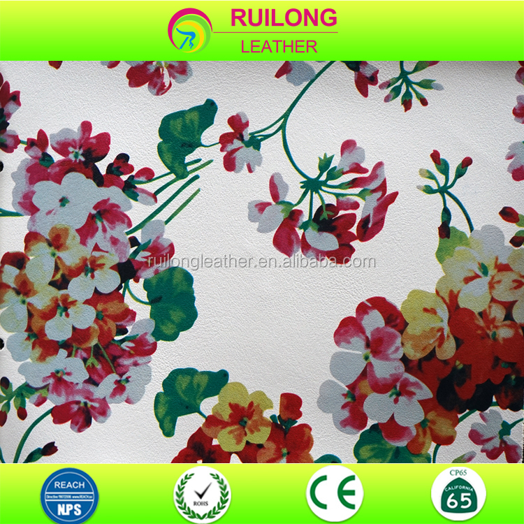 Spring and Summer flower design floral prints petunias pattern pvc leather
