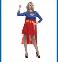 Halloween Classic Women Superman Costume Red Mini Dresses Cosplay Role Playing Superwoman clothing