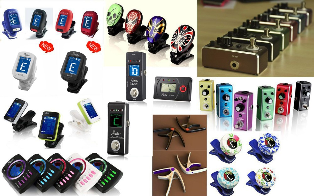 360 degree rotate colorful guitar electric tuner LT-20 guitar tuner from Rowin