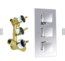 High quality thermostatic shower valve mixer with solid brass material