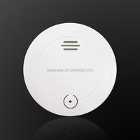 Conventional 9V battery smoke or fire detector and alarm