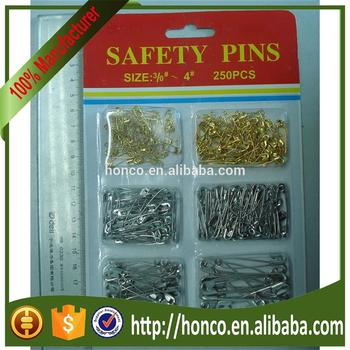 hot selling 250pcs Safety Pins with blistercard paking
