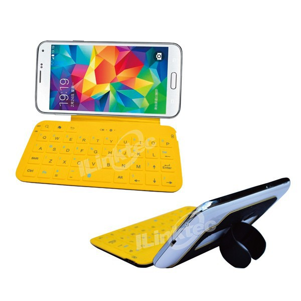 Folding Bluetooth keyboard case for galaxy s4 mini keyboard case