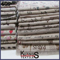 Wholesale 100% linen fabric printing linen fabric For Household Textiles