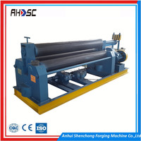 Low cost W11S Model 25x2000mm 3 rolls small sheet metal roller bending machine