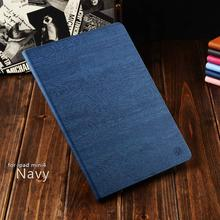 Leather Material Wood Tablet Cover Case For iPad Mini1234